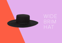 How to Wear a Wide Brim Hat This Fall